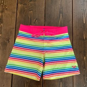 Girls size 7/8 Roxy rainbow 🌈 Board Shorts